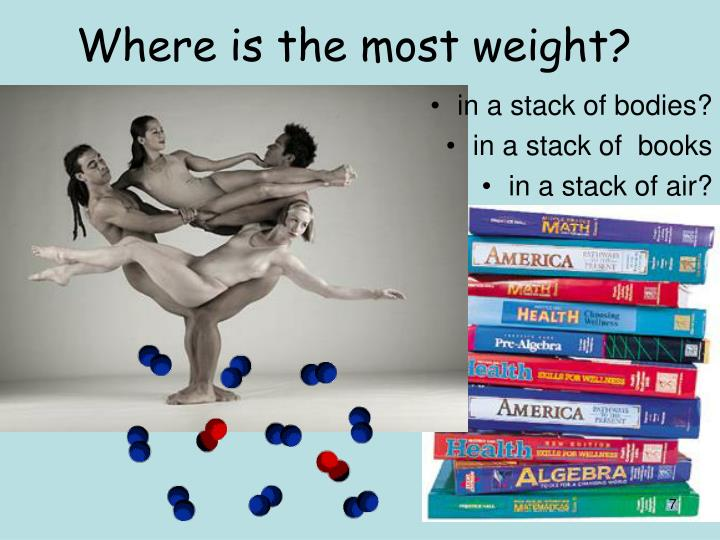 Where is the most weight?
