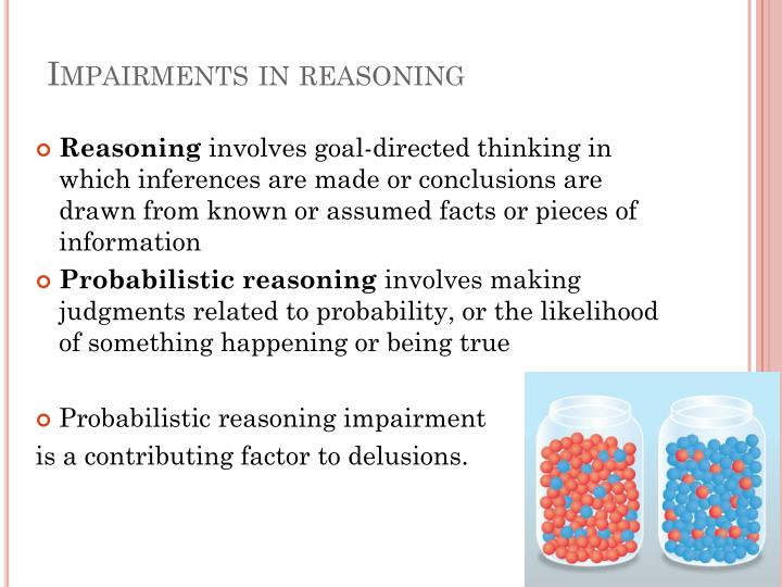 Impairments in reasoning