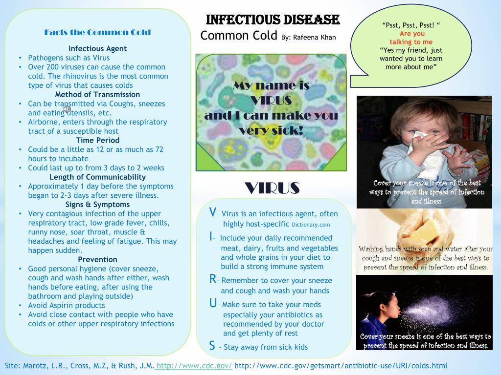 PPT - Infectious Disease Common Cold By: Rafeena Khan PowerPoint