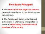 five basic principles
