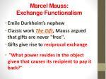 marcel mauss exchange functionalism