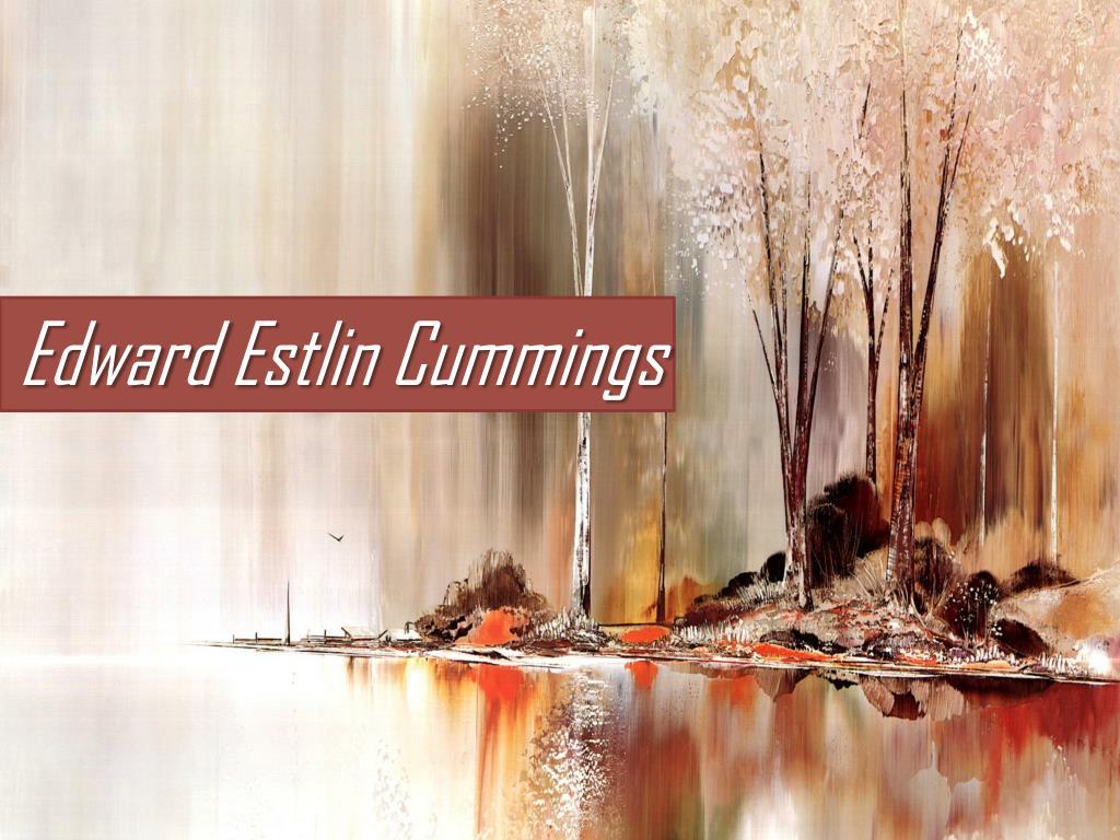 Ppt Edward Estlin Cummings Powerpoint Presentation Free