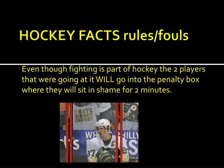 HOCKEY FACTS rules/fouls