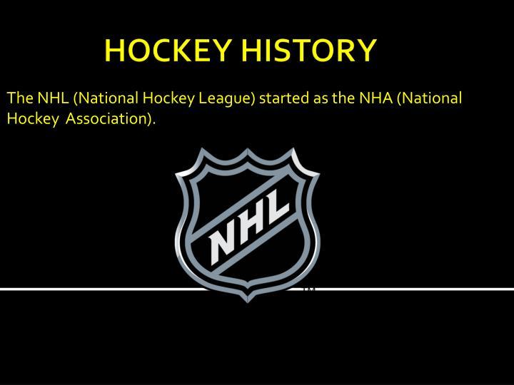 The nhl national hockey league started as the nha national hockey association