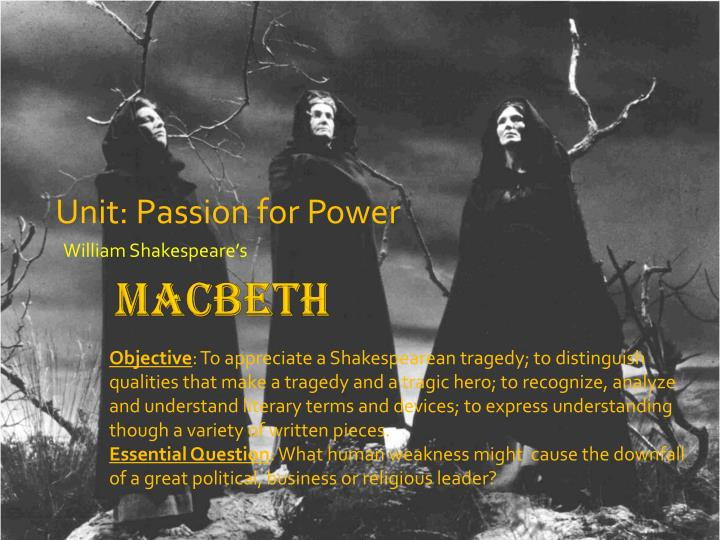 macbeths power A bbc bitesize secondary school revision resource for higher english on macbeth's themes: guilt, order and disorder power and the abuse of power.