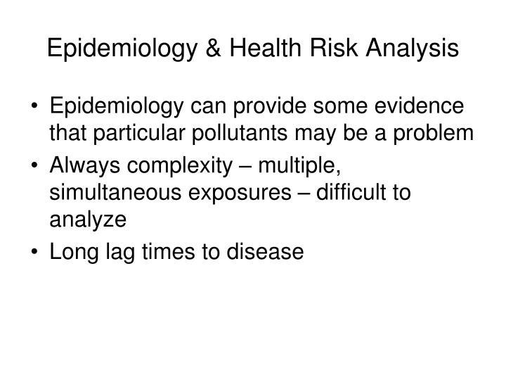 Epidemiology & Health Risk Analysis