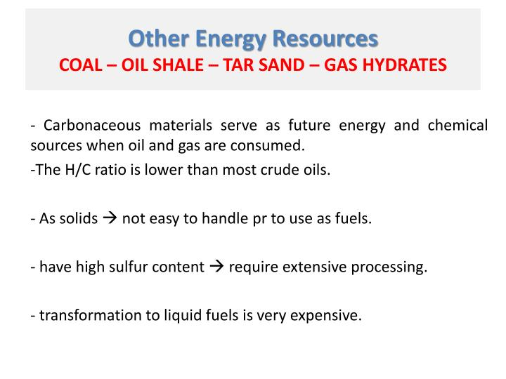 Other Energy Resources
