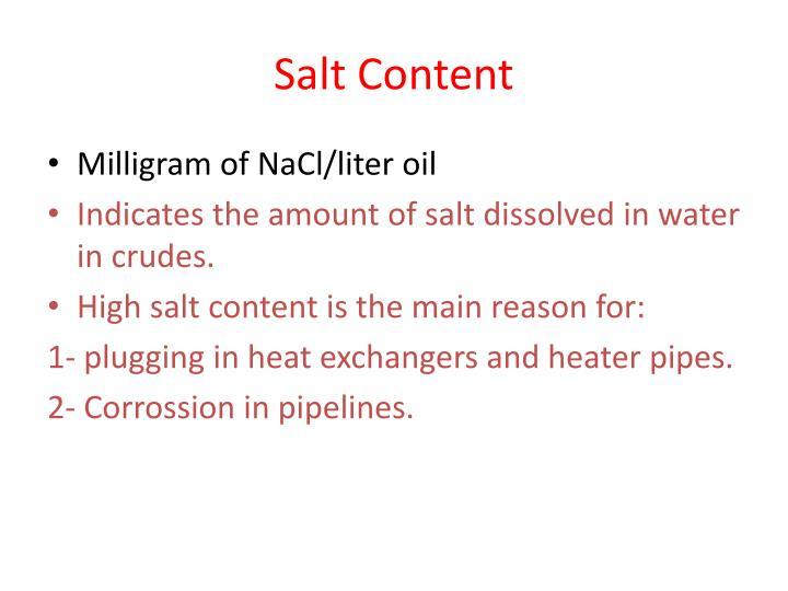 Salt Content
