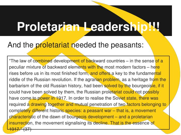 Proletarian Leadership!!!