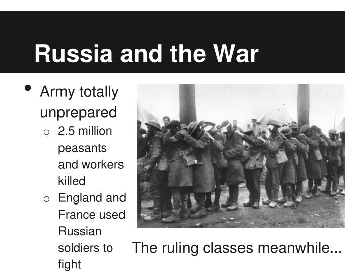 Russia and the War