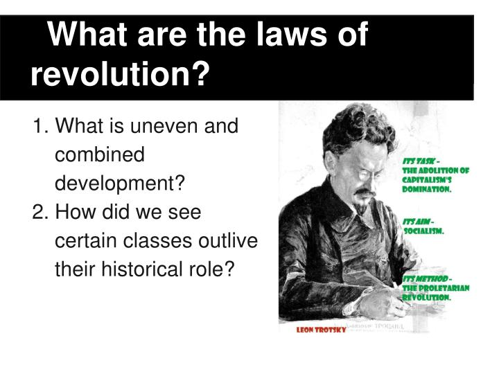 What are the laws of revolution?