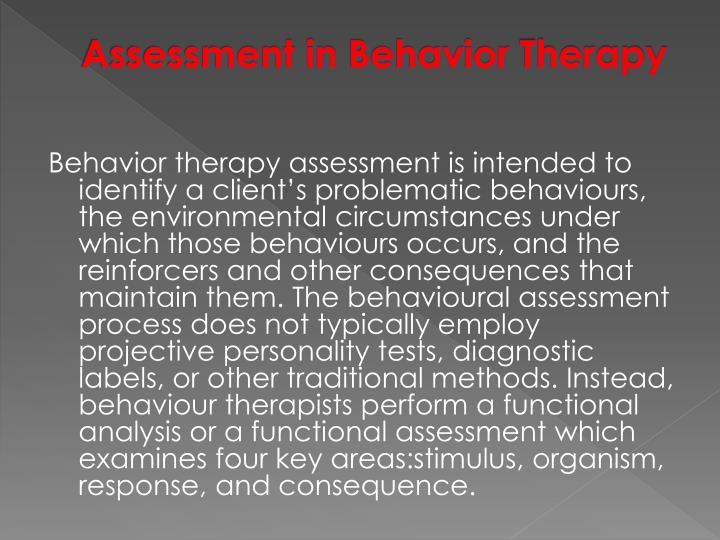Assessment in