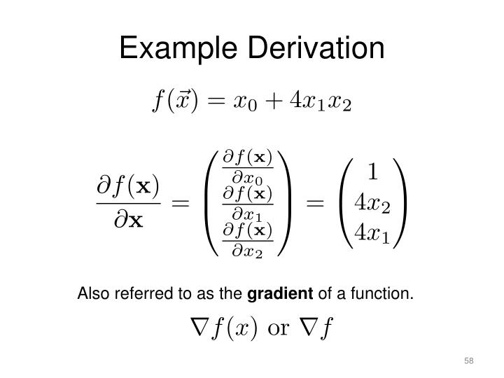 Example Derivation