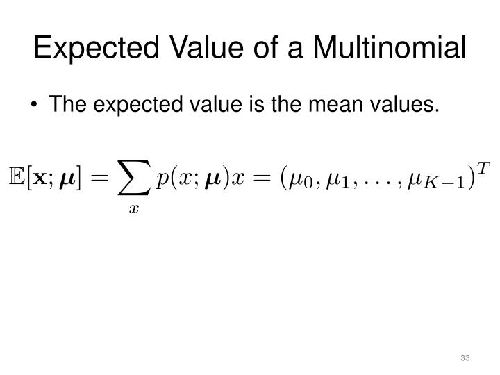 Expected Value of a Multinomial