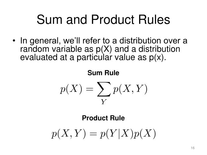 Sum and Product Rules