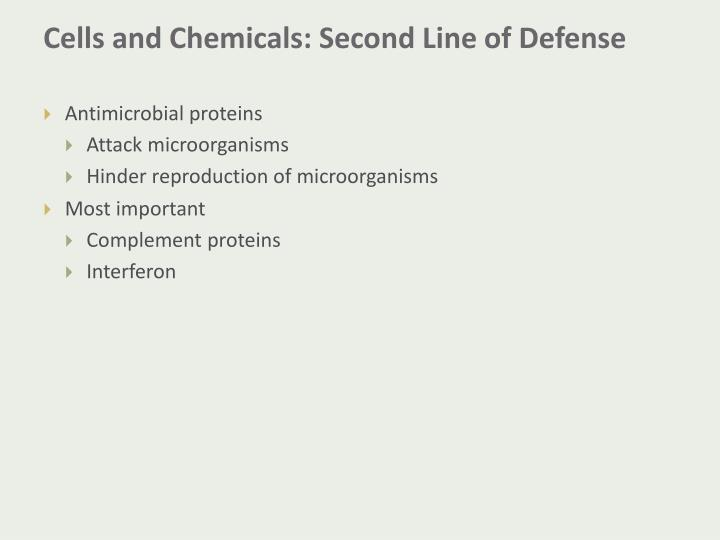 Cells and Chemicals: Second Line of Defense
