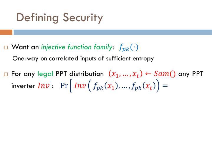 Defining Security