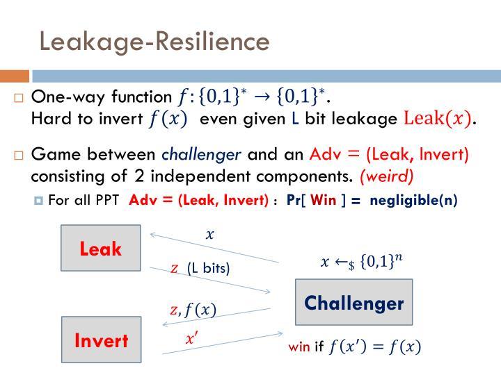 Leakage-Resilience
