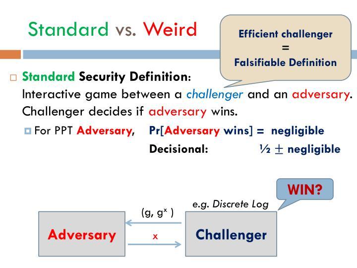 Standard vs weird