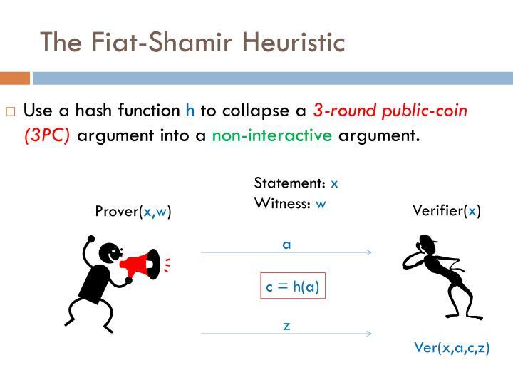 The Fiat-Shamir Heuristic