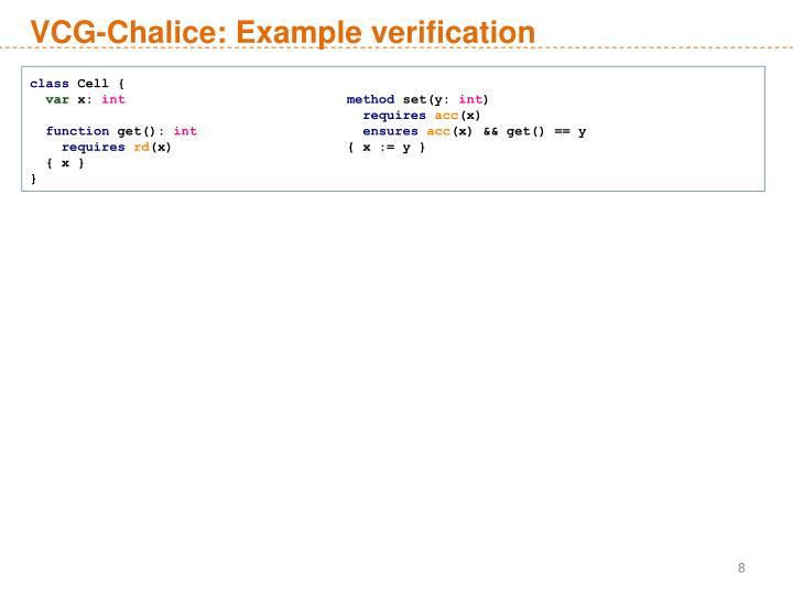 VCG-Chalice