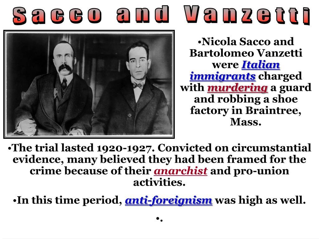 Sacco And Vanzetti Essay - Words | Bartleby