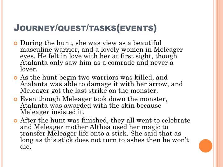 Journey/quest/tasks(events)