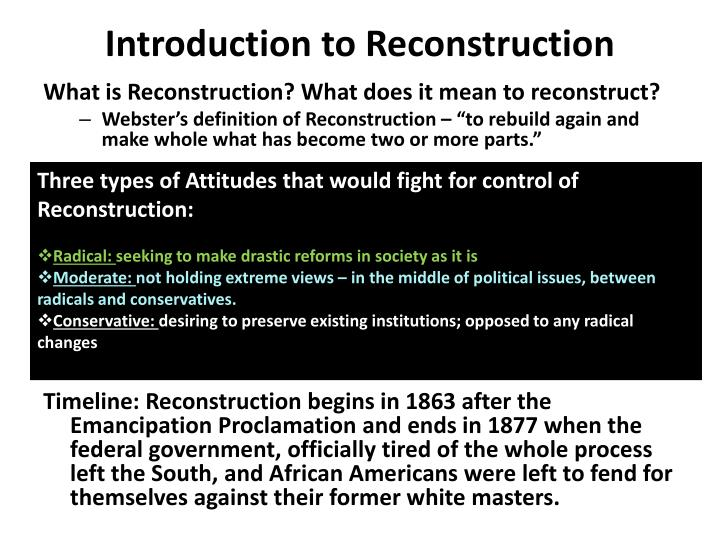 Ppt Introduction To Reconstruction Powerpoint Presentation Id