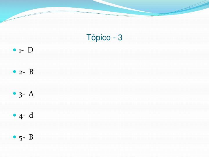 Tópico - 3