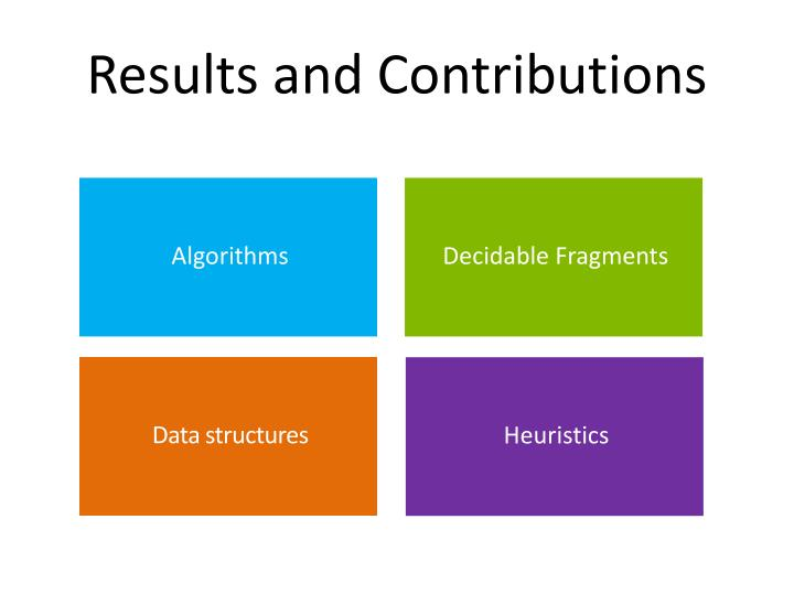 Results and Contributions