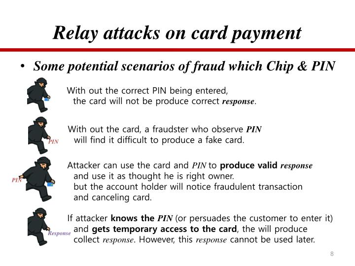 Relay attacks on card payment