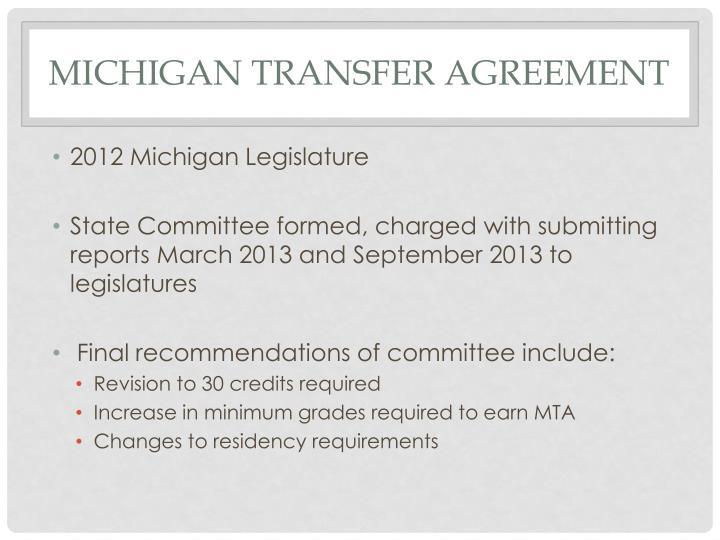 Ppt Michigan Transfer Agreement Mta Powerpoint Presentation Id