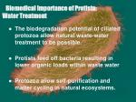 biomedical importance of protista water treatment