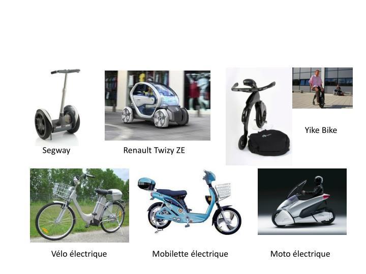 Mobilité individuelle électrique de petite dimension