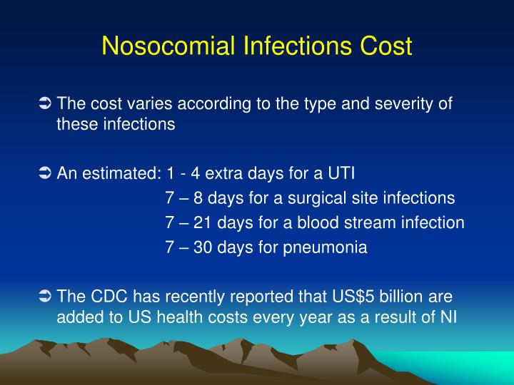 Nosocomial Infections Cost