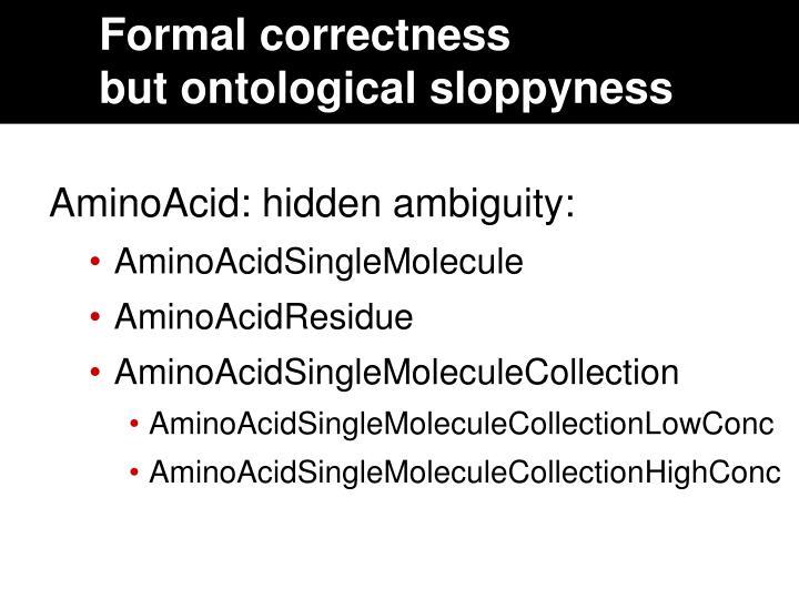 Formal correctness