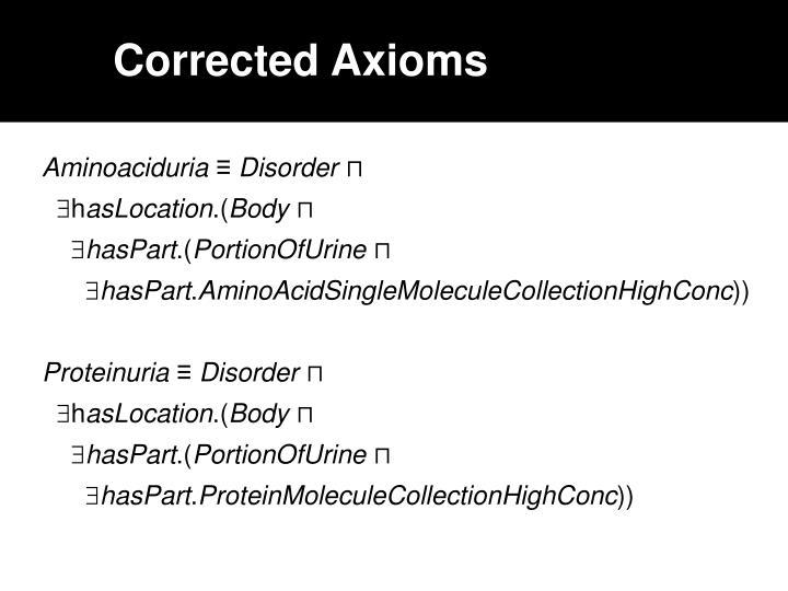 Corrected Axioms