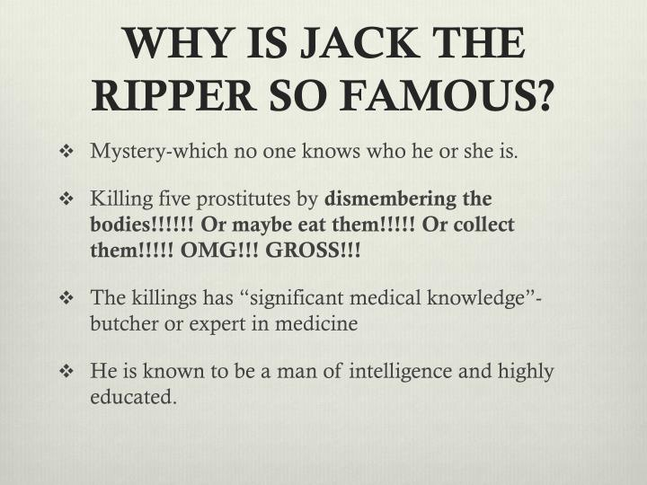 Jack the ripper: a powerpoint presentation youtube.