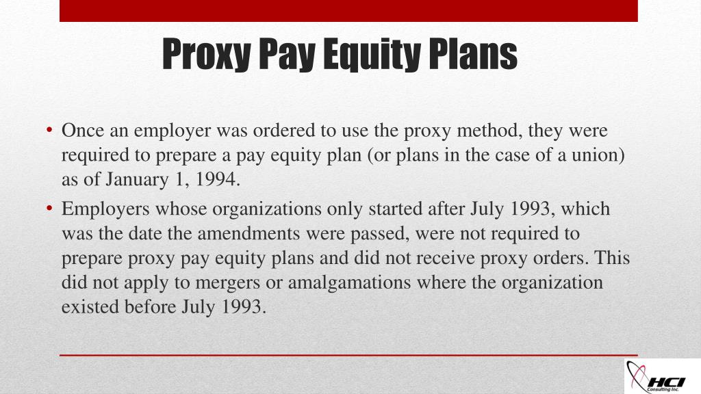 PPT - Proxy provisions of the Pay Equity Act PowerPoint