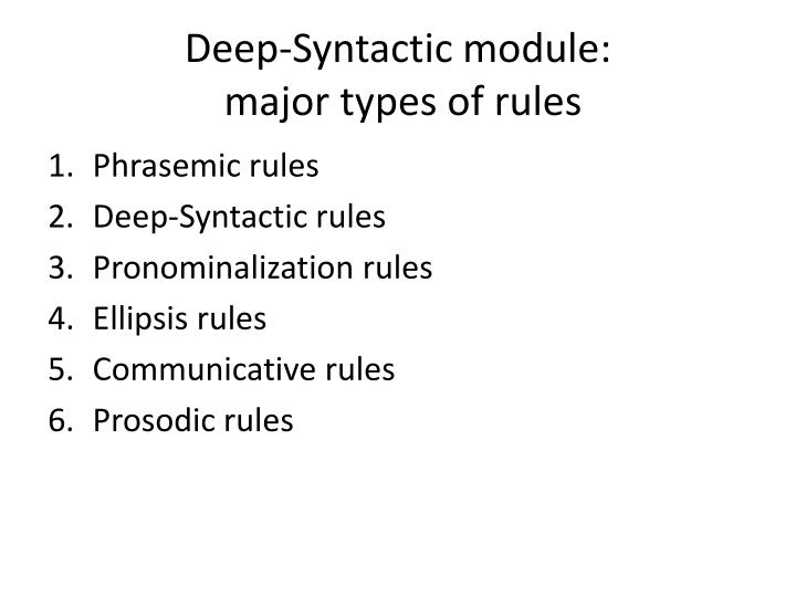 Deep-Syntactic