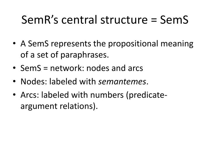 SemR's