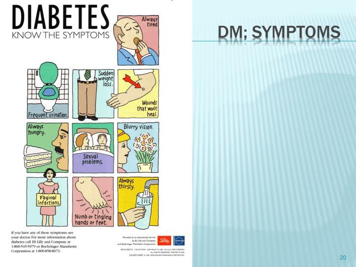 DM; symptoms