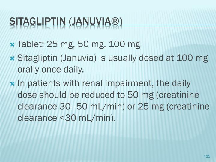 Tablet: 25 mg, 50 mg, 100 mg