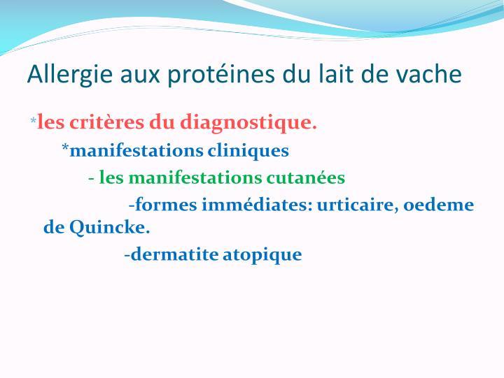 allergie aux proteines du lait de vache pdf