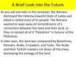 a brief look into the future