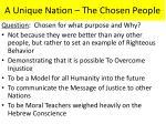 a unique nation the chosen people