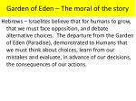 garden of eden the moral of the story