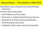 monotheism the belief in one god