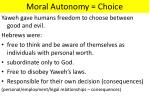 moral autonomy choice