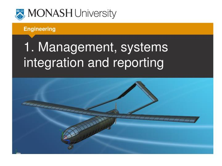 1 management systems integration and reporting n.